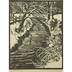 William Rice (American, 1873 - 1963)  Winter Tracery, California, woodcut