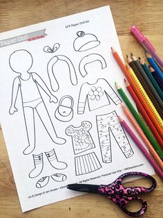 printable paper doll kit that kids can color