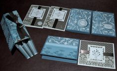 Accordion box and matching cards