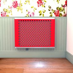 YOYO Geo in 100s of colours Radiator Cover - such a pretty effect if you go for this lovely lipstick colour