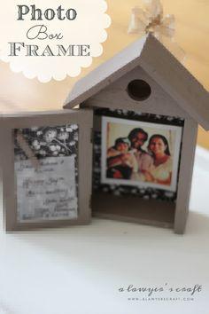 a lawyer's craft: Photo Box Frame