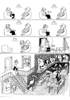The Collection of Comic Strip by Quino-Argentina :: H Comic, Comic Art, Let's Have Fun, Humor Grafico, Fun Comics, Calvin And Hobbes, Comic Strips, Art Reference, Illusions