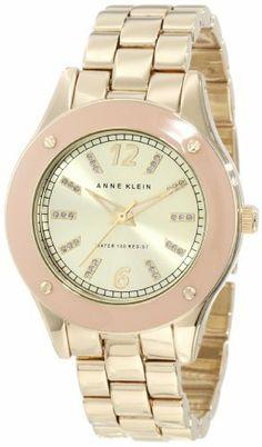 Anne Klein Women's 10/9806TNGB Tan Resin Bezel Gold-Tone Bracelet Watch Anne Klein. $65.00