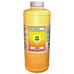 General Hydroponics pH Down - 8 Oz by General Hydroponics. $9.58. basic equipment for any hydroponic system. Acid formulated using food grade Phosphoric acid. Observe pH levels and then adjust them with pH Up or pH Down.