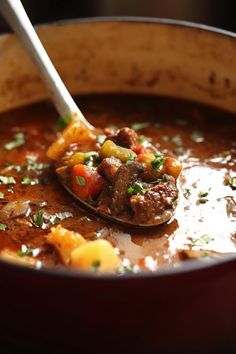 Why make a regular beef stew when you can make an Italian version with more flavor? It was a rainy day yesterday and there is almost nothing better on a rainy day then a hearty bowl of Italian Beef Stew. Yes, this recipe may seem like it has a hundred ingredients, but a lot of them are just herbs (most of which you
