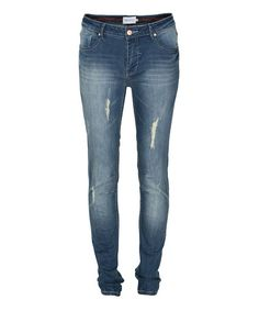 Take a look at this Occupied: Medium Blue Rock Jeans by Occupied on #zulily today!