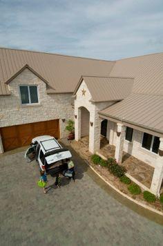 Tan Metal Roof In 2019 Metal Roof Houses Tin Roof