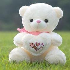 Cute Teddy Bear Pics, Teddy Bear With Heart, Teddy Bear Images, Teddy Bear Pictures, Baby Girl Dress Patterns, Hearts And Roses, Teddy Toys, Bear Wallpaper, Tatty Teddy