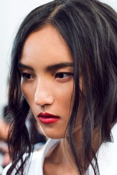 Le Fashion Blog -- Holiday Party Beauty Inspiration Romantic Waves Ruby Red Lipstick Burberry SS 2015 Via Gary Pepper -- photo Le-Fashion-Blog-Holiday-Party-Beauty-Inspiration-Romantic-Waves-Ruby-Red-Lipstick-Burberry-SS-2015-Via-Gary-Pepper.jpg