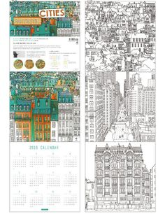 My Favorite Europe Coloring Book By Cube Zoo For Adult Anti Stress Art Therapy