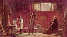 Carl Spitzweg  The portrait painter 1855