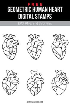 Free geometric human heart digital stamps in EPS, PNG (transparent), and SVG formats. Geometric Tattoo Nature, Geometric Tattoo Meaning, Geometric Tattoos Men, Geometric Tattoo Design, Geometric Sleeve, Tattoos With Meaning, Tattoo Abstract, Geometric Flower, Design Lotus