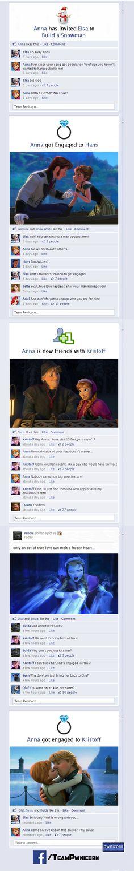 Disney's Frozen on facebook