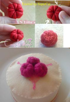 Felt Raspberry Tutorial.