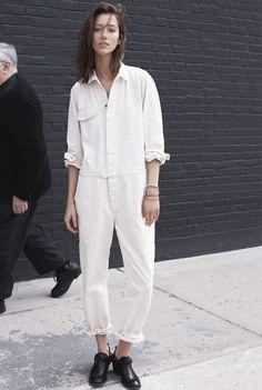 white jumpsuit...