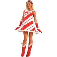Adult Miss Candy Cane Costume