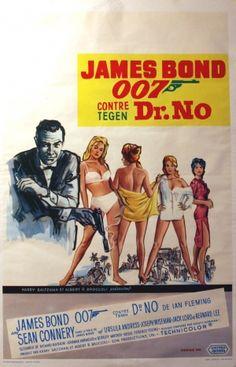 James Bond Dr No, 1963 - original vintage poster listed on AntikBar.co.uk