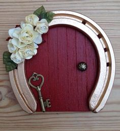 Wooden Fairy Door   15 Easy, Clever ways to Reuse Old Horseshoes