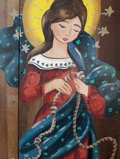 Desatadora de nós no Elo7 | julia maria saad faria (F12130) Mama Mary, Mary I, Mary And Jesus, Holy Mary, Catholic Art, Religious Art, I Love You Mother, Queen Of Heaven, Sainte Marie