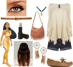 Pocahontas inspired outfit (Need to make Samantha do this sometime)