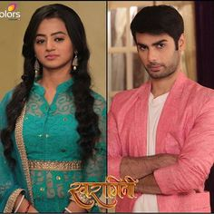 Like if u love the chemistry of Swara and Sanskaar in Swaragini Tina Dutta, Helly Shah, Star Actress, Indian Drama, Best Couple, Beautiful Actresses, Cute Couples, Actors & Actresses, Royal Blue
