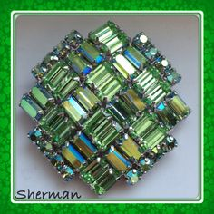 Sherman brooch in stunning light green