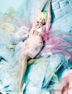 colored tulle