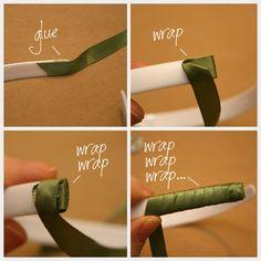 DIY Jeweled Headband Ribbon