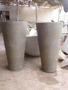 como hacer macetas de cemento concreto u hormign