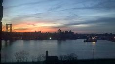 Swirly February sunrise.