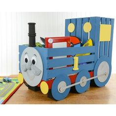 Thomas the Tank Engine Storage Crate - Kid Furniture - Kids DIY Furniture
