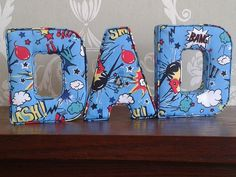 DAD superhero gift, ideal for Christmas, birthday or fathers day.  Fabric letters keepsake present, home decor, wall hanging by AlphabetCraft on Etsy