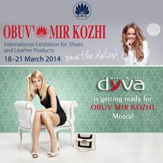 Non Mancare! Ti aspettiamo alla fiera OBUV MIR KOZHI di Mosca! #onlydyva #scarpedyva #thebestdyva #mosca  ***  Save the date and join us at OBUV MIR KOZHI in Mosca / Russia! #dyva #dyvashoes #beadyva  http://www.obuv-expo.ru/en/
