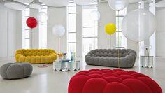 Moderno sofá de 3 lugares da Roche Bobois