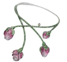 Chopard, rosebud necklace.