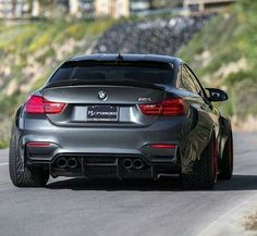 BMW F82 M4 grey widebody