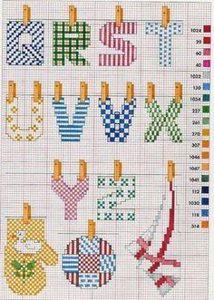 607 Fantastiche Immagini Su Alfabeto Nel 2019 Cross Stitch