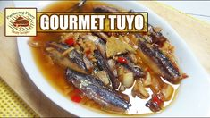 """An appetizing Filipino fish delicacy. This gourmet """"tuyo"""" is made from dried herrings soaked in olive oil with spices. Sardine Recipes, Fish Recipes, Gourmet Tuyo Recipe, Smoked Fish, Filipino, Fried Rice, Olive Oil, Philippines, Cravings"""