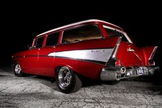 Chevy Bel-Air Wagon, gotta hunt one down to build for my beautiful wife! 1957 Chevy Bel Air, Chevrolet Bel Air, Chevrolet Trucks, Chevrolet Impala, Gas Monkey, Cool Old Cars, Automobile, Volkswagen, American Classic Cars