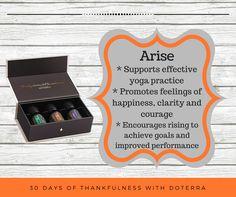 #30daysofthankfulness #day20 #EssentialOils #doterra #natural #healthandwellness #safe #familyfriendly #alternatives #wellbeyondhealthcare #arise #yoga #happiness #clarity #courage #performance