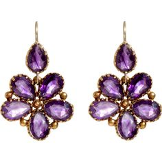 Olivia Collings Antique Jewelry Amethyst Pansy Earrings (18 520 SEK) ❤ liked on Polyvore