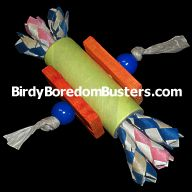 Munch Tube Foot Toy for Medium & Large Parrots
