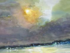 MIllie Gift Smith Original Signed Watercolor 2000-Now [Up to 30} Moonlight  #Expressionism