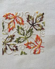 This Pin was discovered by sıd Fall Cross Stitch, Cross Stitch Cards, Cross Stitch Rose, Cross Stitch Borders, Cross Stitch Flowers, Cross Stitch Designs, Cross Stitching, Cross Stitch Embroidery, Cross Stitch Patterns