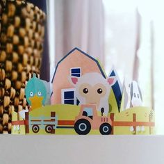 Farm Yard Animal Cake Topper - Download, print & decorate! Baby farm yard animals are the cutest! Complete with scandi barn, mountains, rolling hills, windmill, tractor and of course farm yard animals duck, sheep, cow, horse and pig, the Farm Yard Animal Cake Topper is the perfect birthday cake decoration to match your little one's birthday party theme. The cake topper is an easy DIY printable item available for $8 from http://beauandbow.com.au