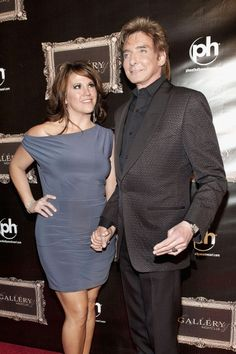Barry Manilow and backup singer Keeley Vasquez pictured at The Gallery Nightclub at Planet Hollywood.