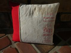Vintage Winchester Shot  Sack Pillow by repurposedstyle on Etsy, $23.75