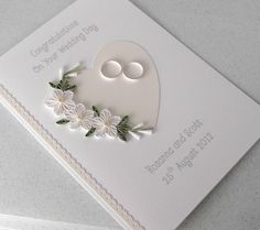 Quilled wedding card, paper quilling, personalized. Love it!!!!