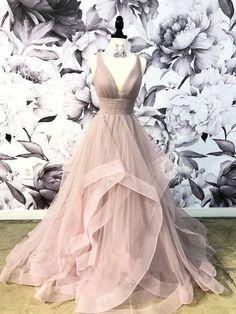 Dresses - V-Neck Grey Tulle A-line Long Evening Prom Dresses, Cheap Party Custom Prom Dres. V-Neck Grey Tulle A-line Long Evening Prom Dresses, Cheap Party Custom Prom Dres. V-Neck Grey Tulle A-line Long Evening Prom Dresses, Cheap Party Custom P Straps Prom Dresses, Open Back Prom Dresses, Cheap Prom Dresses, Bridesmaid Dresses, Maxi Dresses, Wedding Dresses, Dress Long, Summer Dresses, Dress Prom