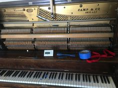 Spent a little time re-tuning this 1903 upright piano in our home to 432Hz